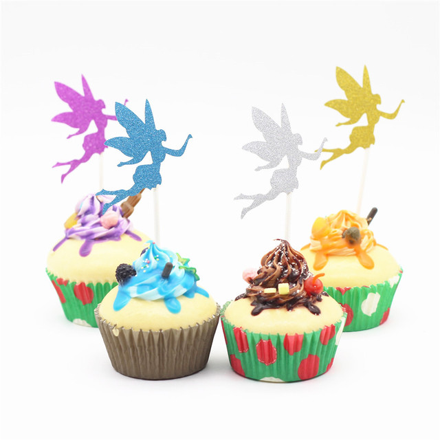 12 Pcs Butterfly Fairy Cake Topper Birthday Party Favors Cake Accessories  Baby Shower Party Cupcake Toppers