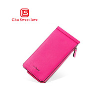 Womens wallet fashion multi-card design long clutch bag multi-color optional flip-type pouch
