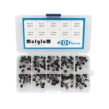 BC337 BC327 2N2222 2N2907 2N3904 2N3906 S8050 S8550 A1015 C1815 транзисторный набор 10 Значение 200 шт., коробка транзисторов пакет