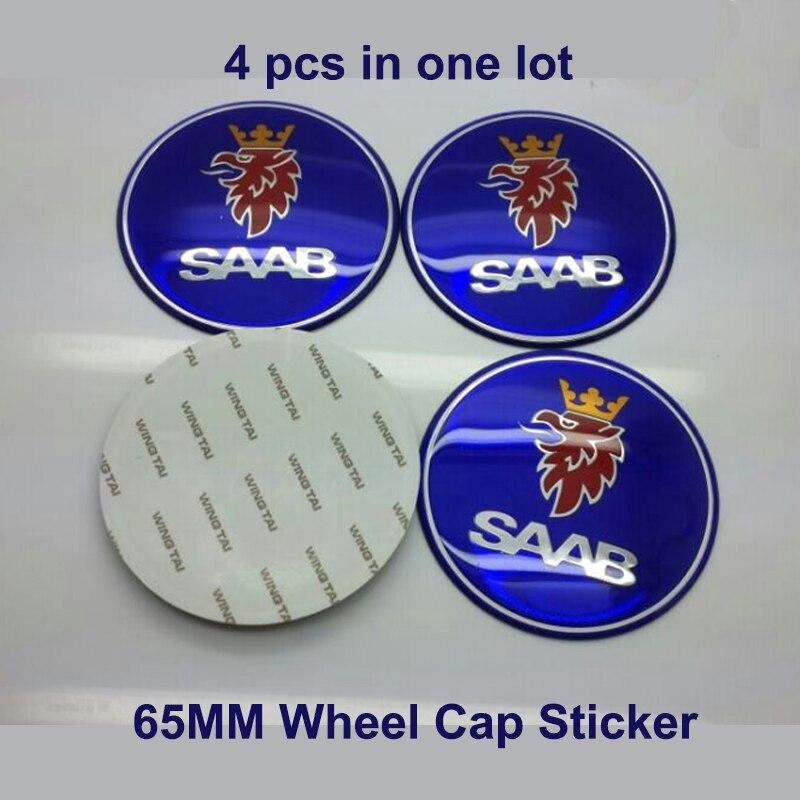 Hot selling 4pcs 65mm 2.56inch Wheel Center Cap Wheel Rims Cover car Wheel Badge Emblem for Saab