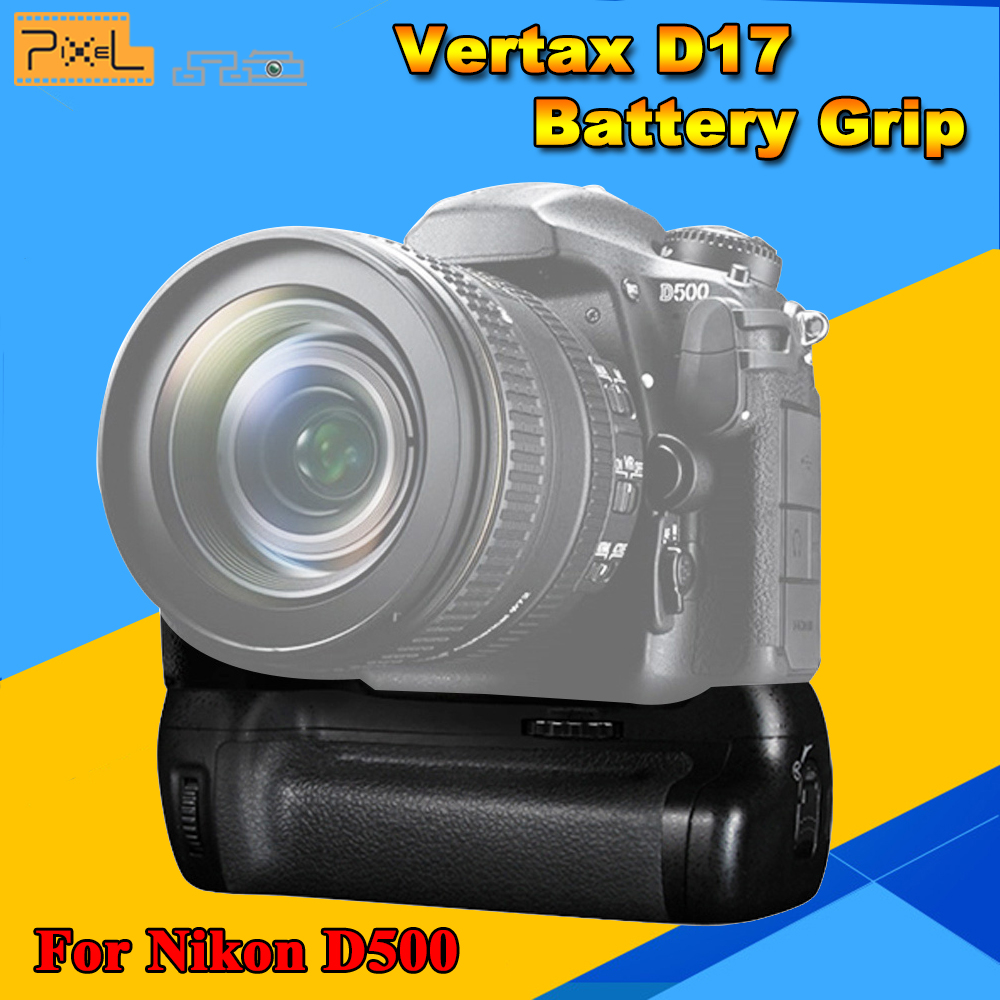 Pixel Vertax D17 Professional Battery Grip For Nikon D500 DSLR Camera Vs MB-D17 Battery Grip Free Ship pixel vertax d17 professional battery grip for nikon d500 compatible with en el15 or aa battery replacement for nikon mb d17