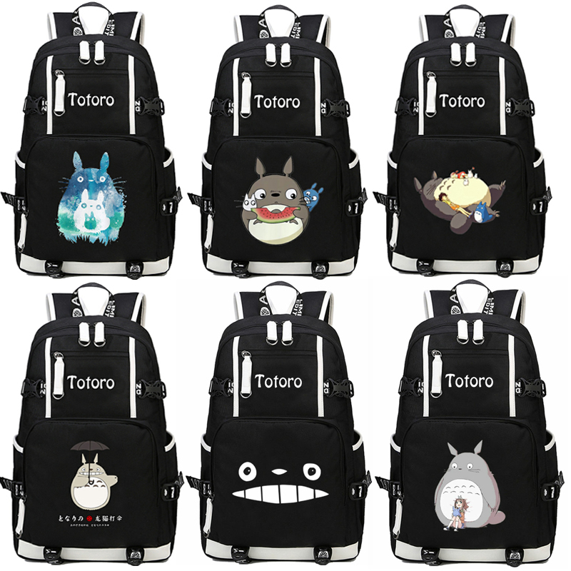 2017 New Japanese Anime Totoro Backpack School Bags Bookbag Cosplay Cartoon Unisex Shoulder Laptop Travel Bags sosw fashion anime theme death note cosplay notebook new school large writing journal 20 5cm 14 5cm