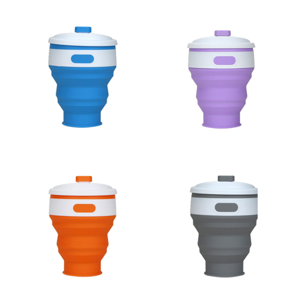 Drinkware Reusable Business Drinking Cups New Foldable Silicone Travel Cup 300ml Collapsible Coffee Mugs