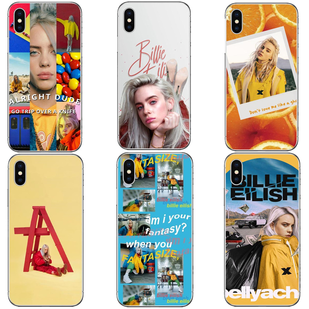 Music Singer Star Billie Eilish Soft Silicone Cover Iphone XS Max