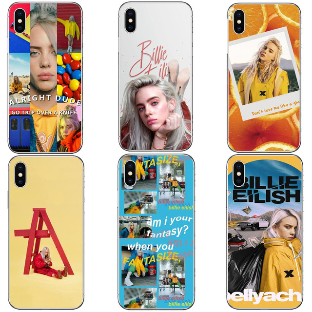 US $1 85 40% OFF|Billie Eilish Hot Music Singer Star Hard PC Phone Cases  Cover for iphone 5 5S SE 6 6S Plus 7 XR XS MAX 8 8 Plus X 10-in  Half-wrapped