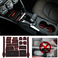 15 pçs/set Para 2008-2015 Nissan X Trail-X Trail Acessórios 3D Carro de borracha Tapete Antiderrapante Copo Pad Ranhura Da Porta Interior Mat