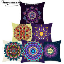 Fuwatacchi Datura Flowers Cushion Cover Printed Decoration Throw Pillow Covers for Car Pillowcases Sofa