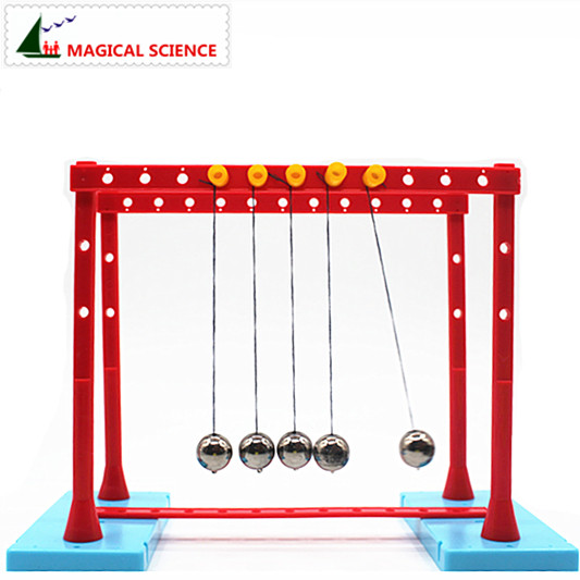 wholesale Physical experiment Newton's Cradle-ball pool Momentum conservation pendulum ball homemade diy material resonance demonstrator of the pendulum physical experimental equipment single pendulum ball