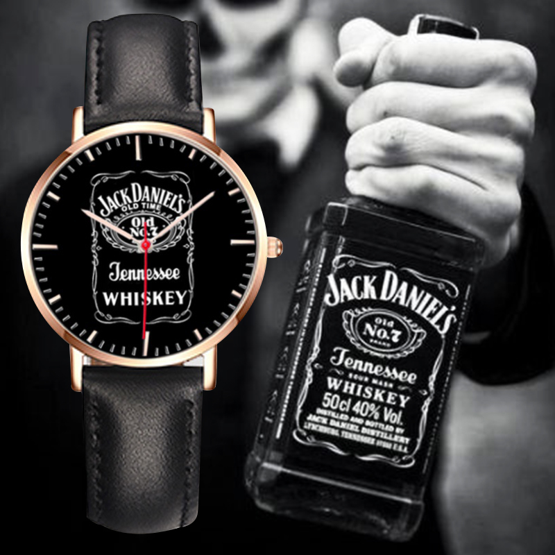Brand Bew 5 Models 1pc Classic JACK DANIELS whisky Quartz simulated Leather Canvas watch sports watches Montre for Men and Women