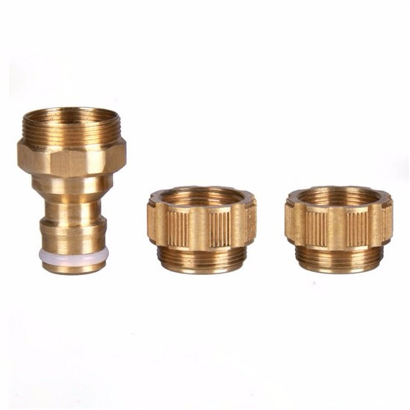 1/2 Inch Brass Home Faucet Connector Garden Lawn Car Water Hose Tap ...