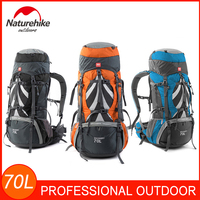 70L Large Backpack Professional Outdoor Sports Bag External Frame Mountaineering Backpack for Backpacking Hiking Camping Travel