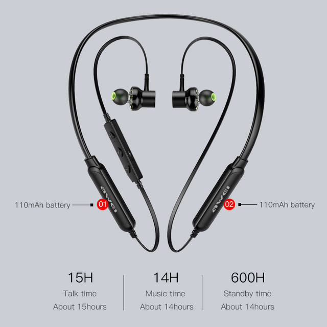 Dual Driver ANC Wireless Bluetooth Neckband Earphone