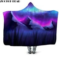 Newest Adventure Time Hooded Blanket Wearable Cover Travel 3D Print Bedding Outlet Plush Sherpa Fleece Blanket Bedspread