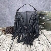 2019 модная женская Замшевая сумка на плечо с кисточками из натуральной кожи, сумка мессенджер, сумочки с бахромой