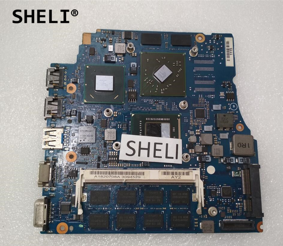 SHELI For Sony 13.3 MBX-237 Motherboard with I5-2410M 4GB Memory 1P-0111200-A013SHELI For Sony 13.3 MBX-237 Motherboard with I5-2410M 4GB Memory 1P-0111200-A013