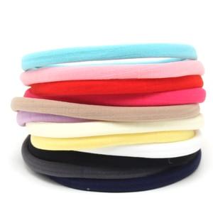 10 pcs/lot, New Solid Color Nylon Elastic Headbands Soft Stretchy Nylon Headbands , one size fits most DIY Hair Accessories