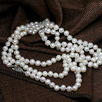 High grade natural white freshwater cultured round pearl long chain necklace 7 8,8 9mm bead fashion women jewelry 46inch B1483