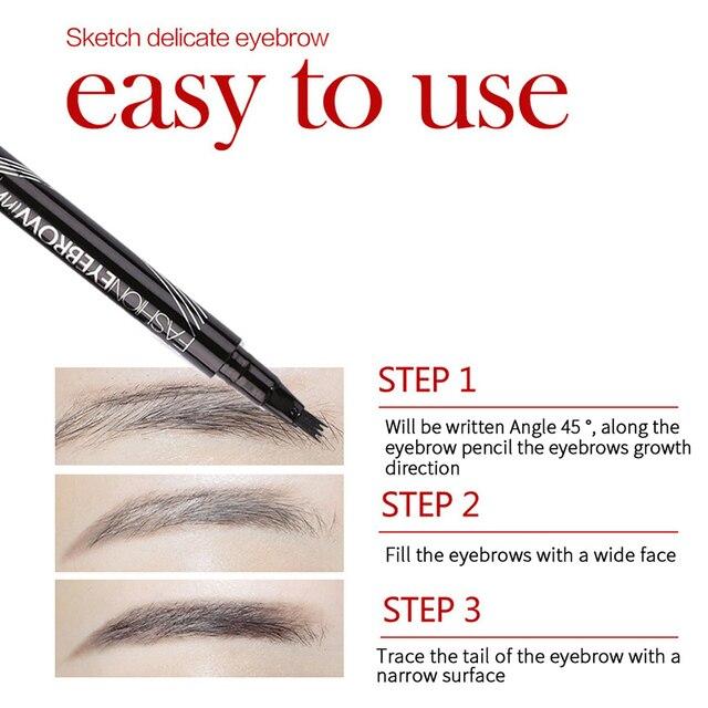 2019 Microblading Eyebrow Pencil Waterproof Fork Tip Tattoo Pen Tinted Fine Sketch Eye Brow Pencils Long Lasting Eyebrows 4