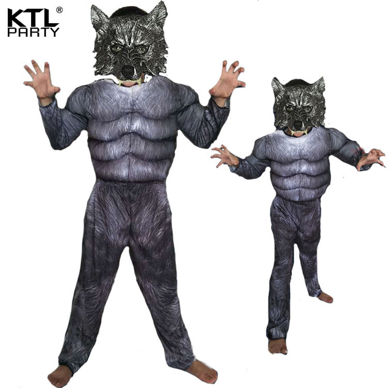 Halloween Cosplay Costumes Wolf costume Suits Children School Performance Clothing Props Muscle Werewolf Clothes Kids Gifts-in Boys Costumes from Novelty ...  sc 1 st  AliExpress.com & Halloween Cosplay Costumes Wolf costume Suits Children School ...