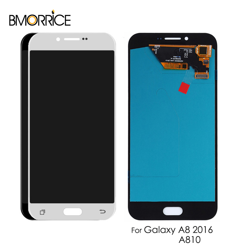 AMOLED For Samsung Galaxy A8 2016 A8100 A810 LCD Display Touch Screen Digitizer Super OLED Assembly ReplacementAMOLED For Samsung Galaxy A8 2016 A8100 A810 LCD Display Touch Screen Digitizer Super OLED Assembly Replacement