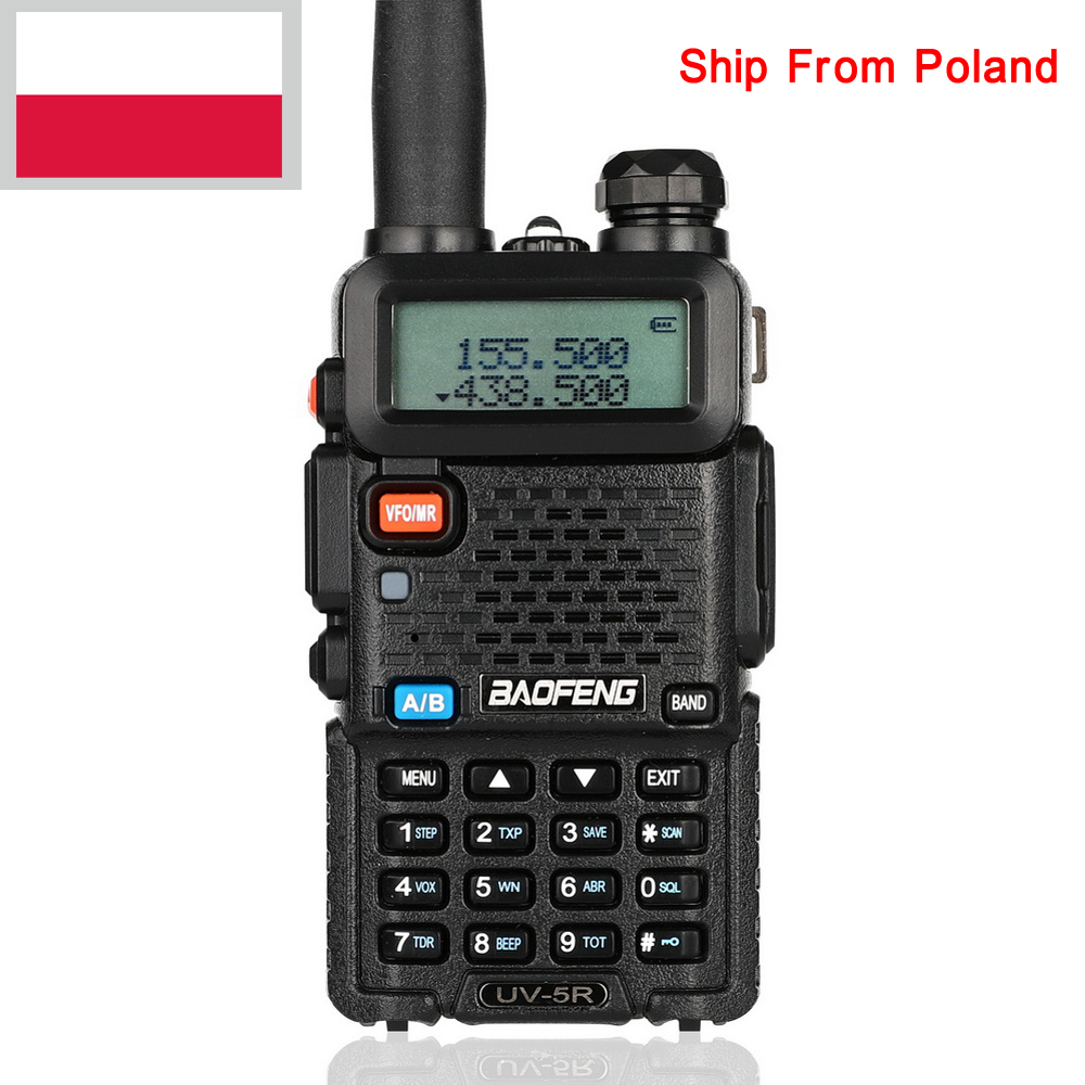 Brand New Black BAOFENG UV-5R Walkie Talkie VHF/UHF 136-174 / 400-520MHz Two Way Radio RU PL DE ES UK STOCK