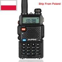 Marke Neue Schwarz BAOFENG UV-5R Walkie Talkie VHF/UHF 136-174/400-520 MHz Zwei Weg radio RU PL DE ES UK LAGER