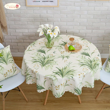 Proud Rose Waterproof Printed Tablecloth Round Table Cover Tea Cloth Rural Rectangular Home Decoration
