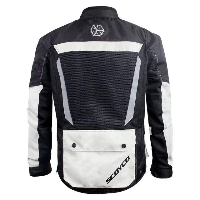 SCOYCO Motorcycle Jacket Breathable Mesh Moto Jacket Motocross Jacket Protective Gear Men Motorcycle Clothing Gray M-3XL SIZE 1