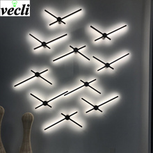 Wall Lamp simple creative wall light bedroom bedside decoration Nordic designer living room corridor hotel led lights Fixtures