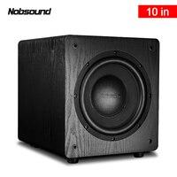 Nobsound SW 100 Full Range Wood 250W 10 inch Active Subwoofer Column Computer Speakers MP3