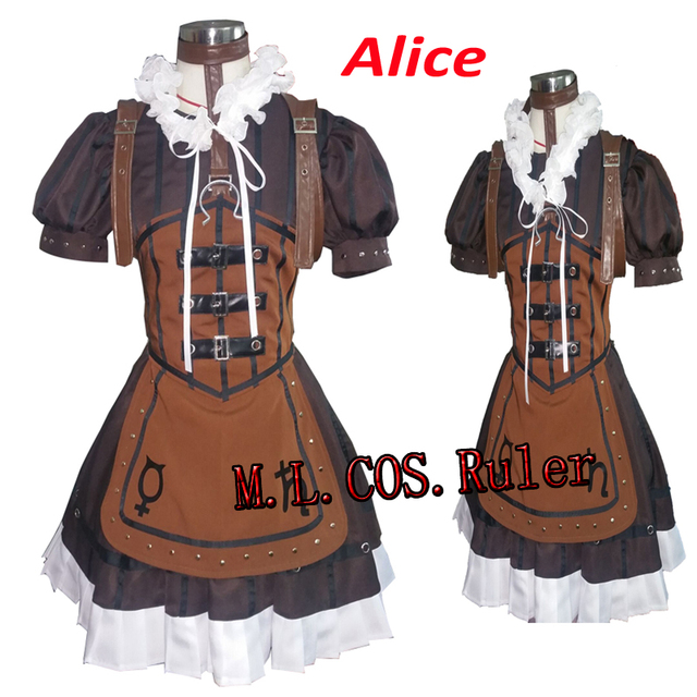 ed76140978b94 US $105.0  Alice: Madness Returns Steampunk Alice Uniform Custom Made For  Halloween Christmas Clothes Dress Free Shipping -in Game Costumes from ...