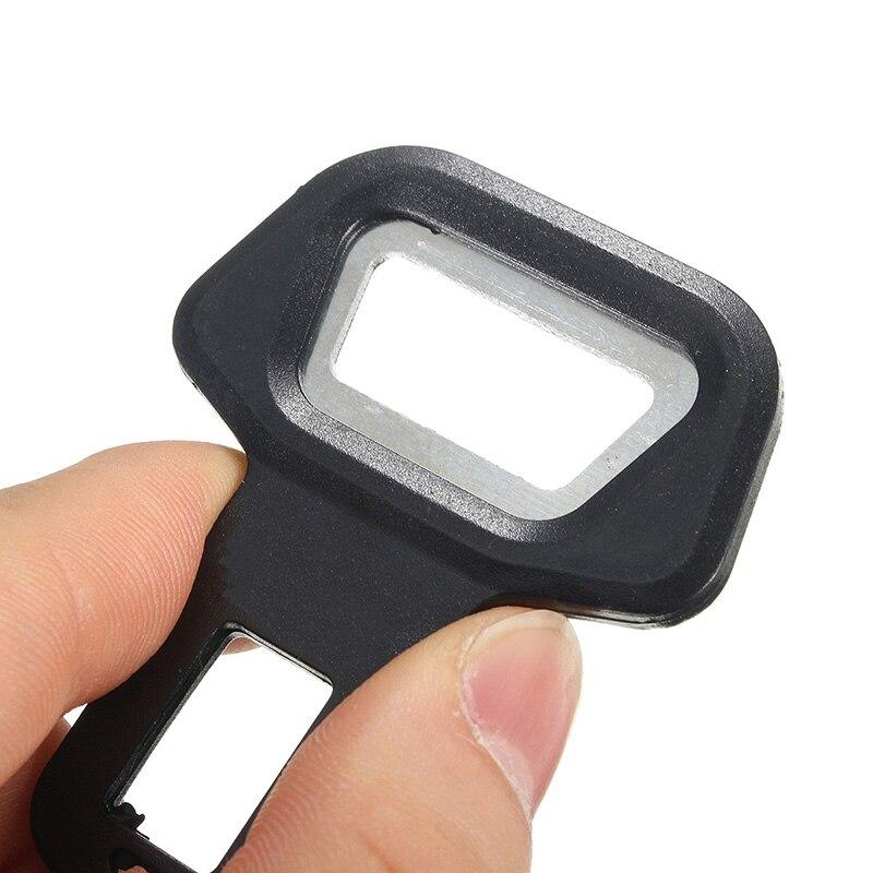 Универсальный алюминиевый сплав, черный 2в1 автомобильный ремень безопасности, пряжка, открывалка для бутылок, сигнализация, фиксатор, подавитель, авто застежка