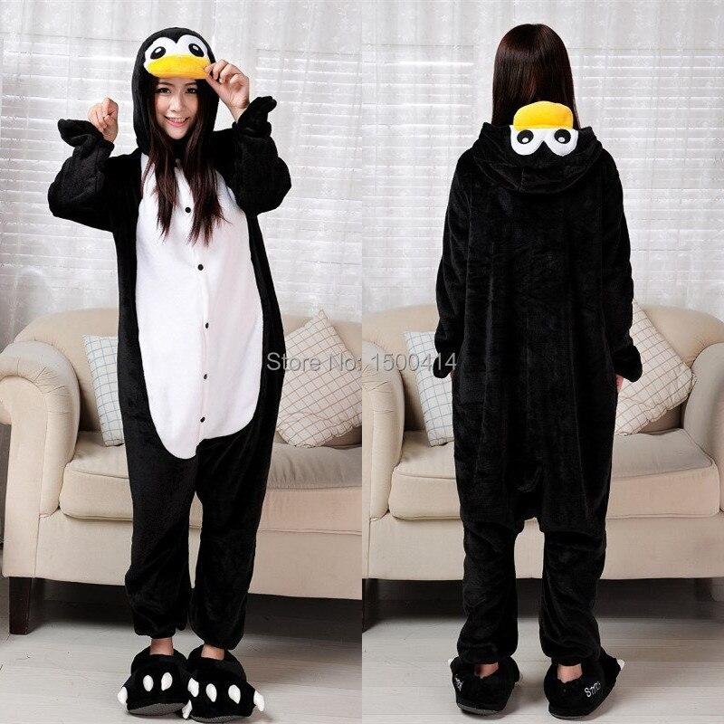 (Silper ne vključujejo) Živalski kostum Penguin Adult Onesie Unisex Ženske moške pižame Halloween Christmas Party Cosplay kostume
