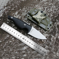 Free shipping New fixed blade sharp edges camping hunting tactical survival knife with G10 handle Outdoor tool knife