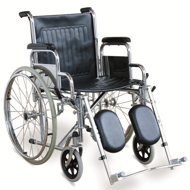 Ancho de un estándar Estándar para sillas de ruedas silla de Ruedas Manual Con Apoyabrazos Desmontables, Reposapiés desmontable y Ajustable en Altura