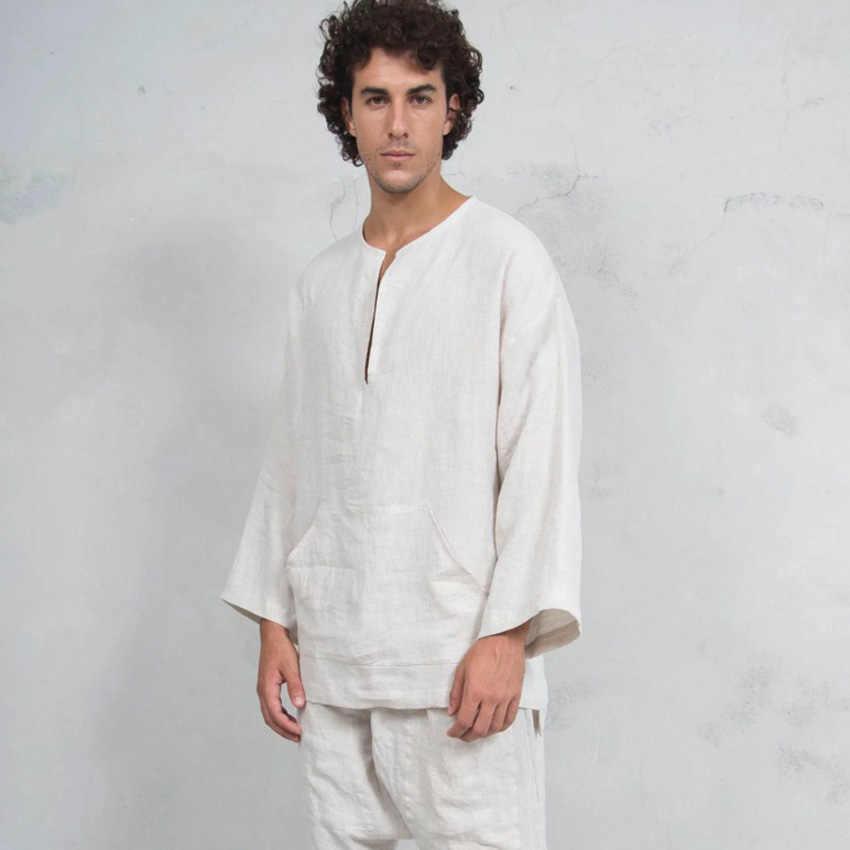 Bliski wschód muzułmańska koszula męska pościel Flare rękaw  PcGbl