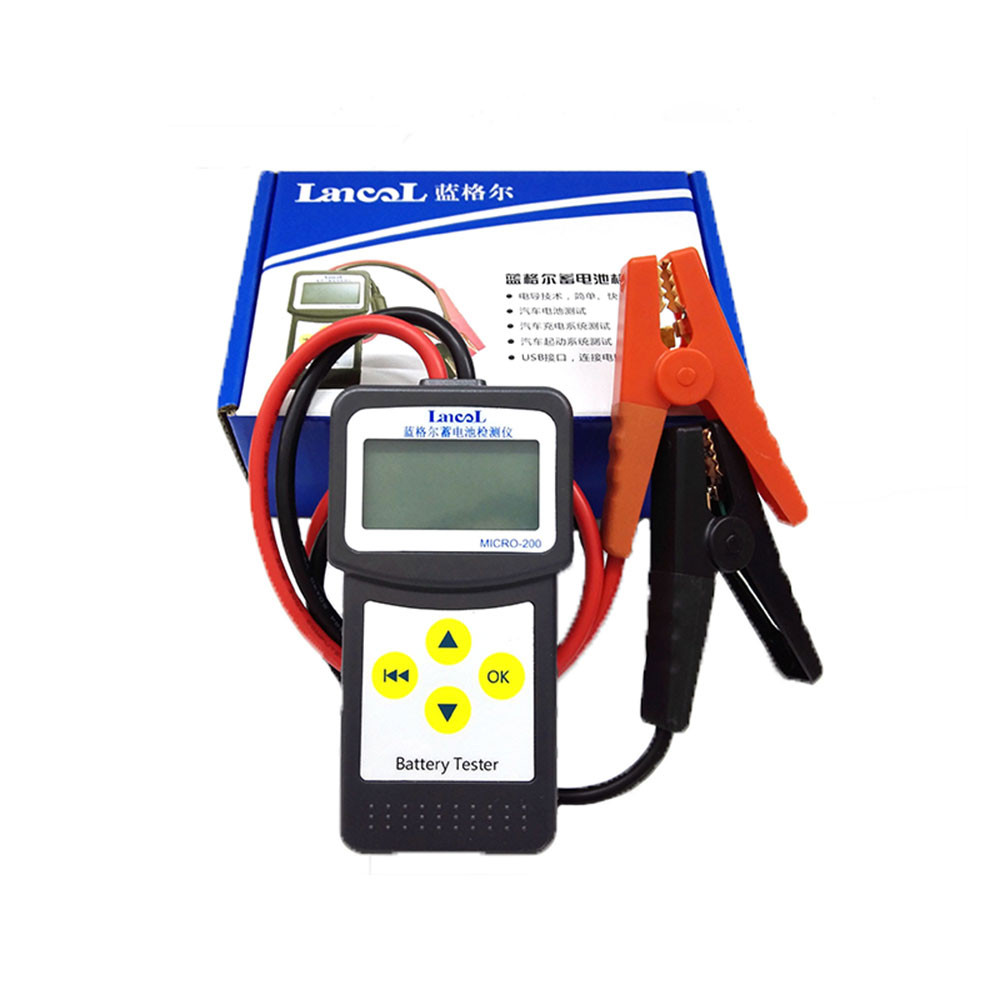12V Digital Automotive Vehicle NEW Car Battery Tester MICRO 200 Battery Analyzer With USB for Printing