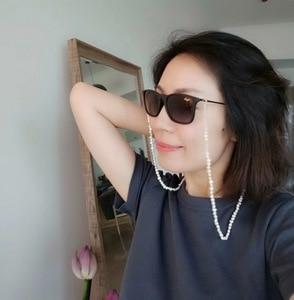 Image 3 - سلسلة النظارة اللؤلؤ ، اللؤلؤ الطبيعي الباروك الصغيرة ، سلسلة النظارة شخصية ، اكسسوارات النظارات الشمسية ، توصية حصرية