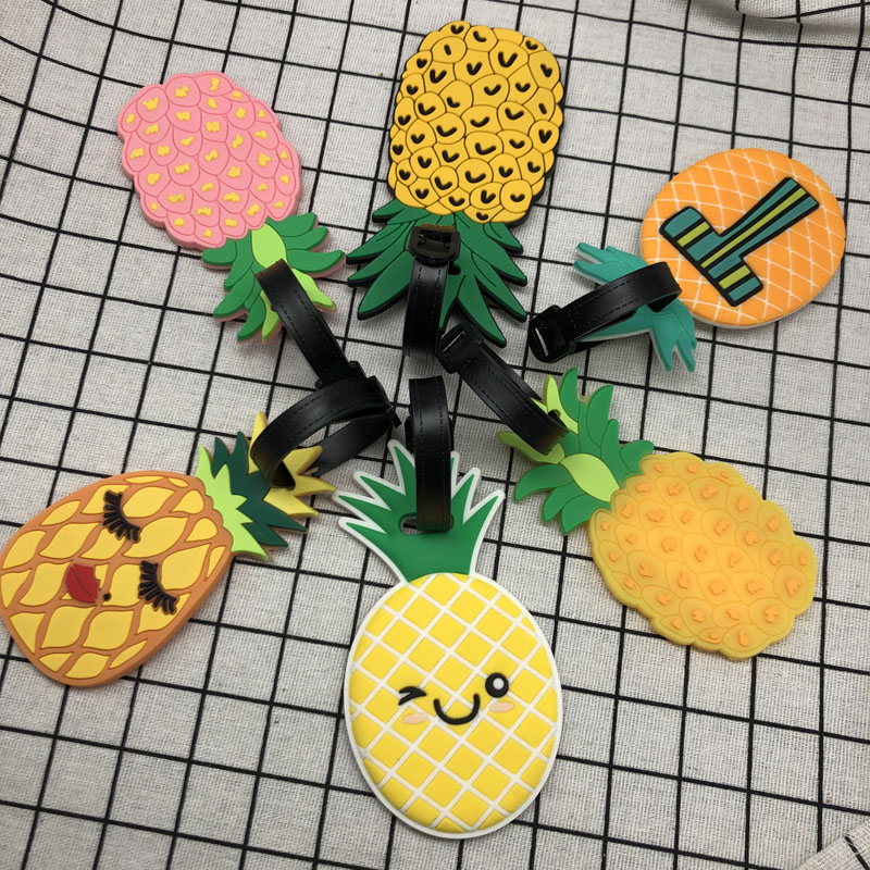Label Boarding-Tags Luggage-Tag Address-Holder Travel-Accessories Suitcase Id Pineapple