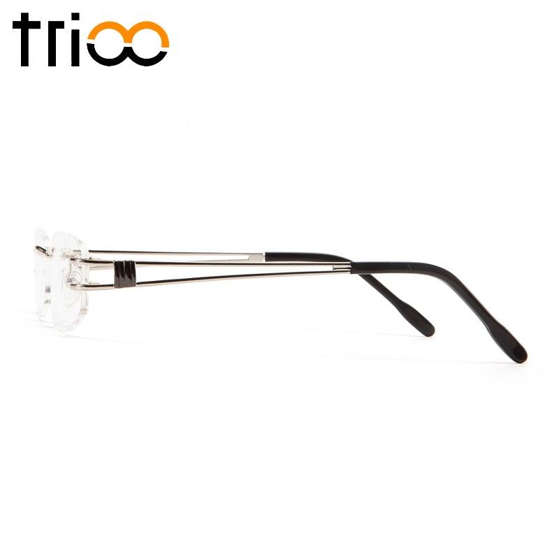 ca648d1845 TRIOO Rimless Myopia Glasses Men Transparent Prescription Optical  Spectacles Minus Graduate Nearsighted Astigmatism Eyeglasses-in Prescription  Glasses from ...
