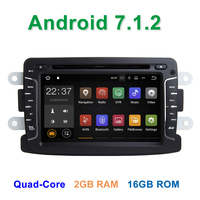 2 GB RAM Android 7 1 2 Car DVD Player For Dacia Sandero Renault Duster Captur