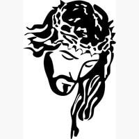 İsa Mesih Portre Taç Ile resim, Espejos Pared Rab TANRı İncil Posterler Dini Hıristiyan duvar Çıkartmaları ev dekor