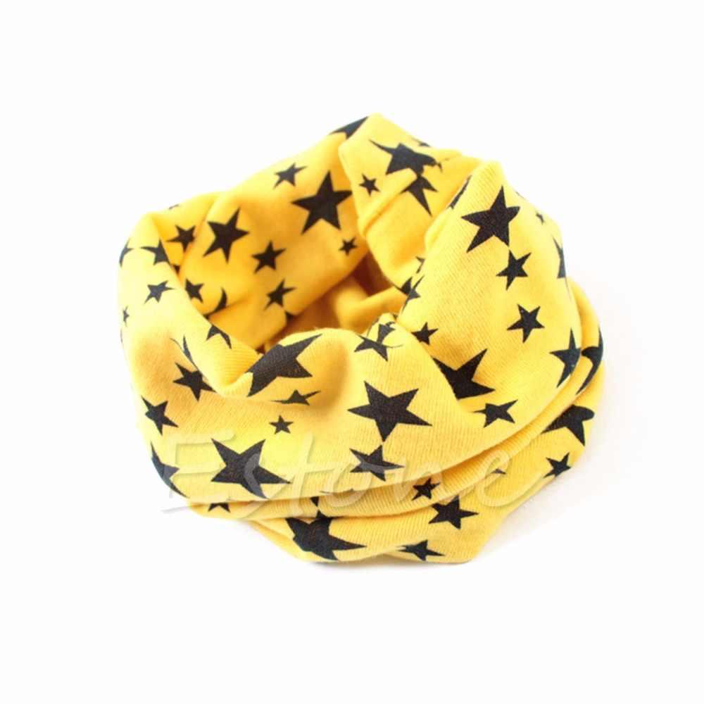 1pc nueva bufanda de invierno cálido niños niñas collar pañuelo bebé niños estrellas O anillo de cuello bufandas