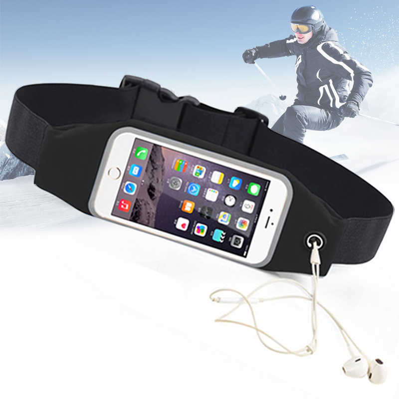 Mobiele Telefoon Riem Running Tas Taille Smartphone Case Waterdichte Hoes Transparant Pouch Oefening Gym Fanny Pack Voor Telefoon Sport 6.3