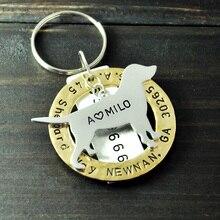 Personalized Tag Labrador Retriever Pet Dog Tags Pet ID Tag Hand Stamped Engraved Alloy Labrador Retriever tag
