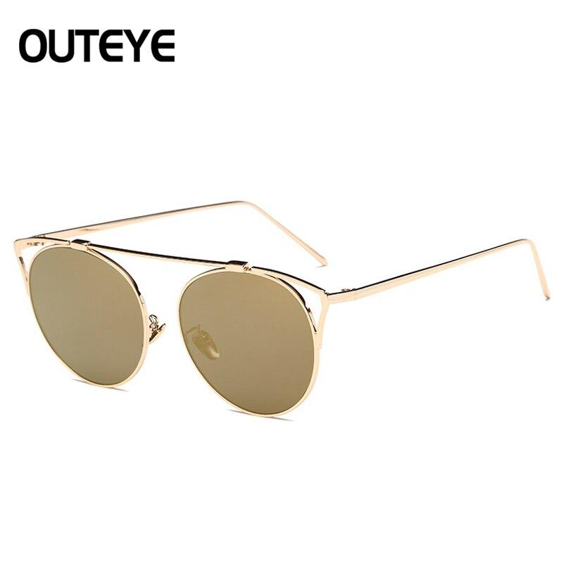 OUTEYE Fashion Design Sunglasses Women Luxury Brand  Sun Glasses Woman Chic 7 Colors lady  De Sol Feminino F3