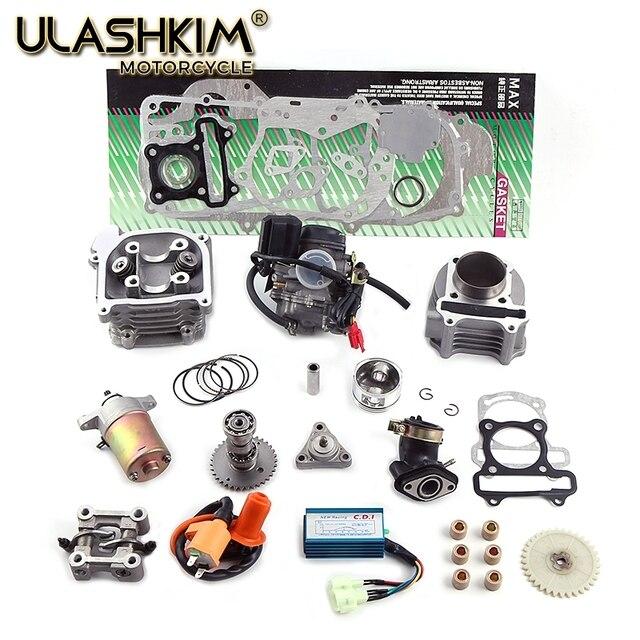 GY6 50 60 100 80cc 50 мм 39 мм 47 мм QMB139 137QMA 4 тактный комплект цилиндров, головка гоночного распредвала, ролики, масляные зубчатые кольца