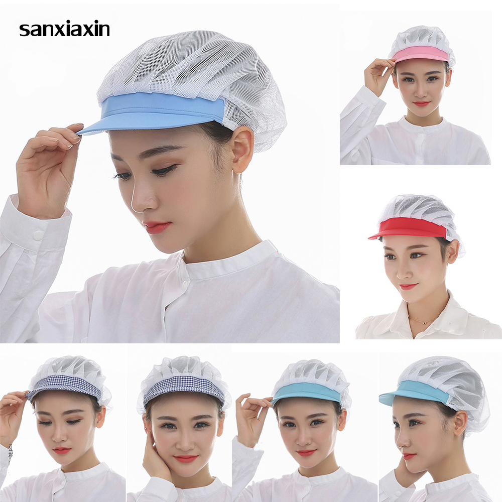 Net Hat Chef Hat Kitchen Health Work Hats Canteen Restaurant Food Service Bakery Baking Female Breathable Cap Nurse Cap Beauty