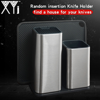 XYj Stainless Steel Knife Holder Multifunction Storage Knife Block Metal Kitchen Knife Stand Rack Dining Chef Accessories Tools