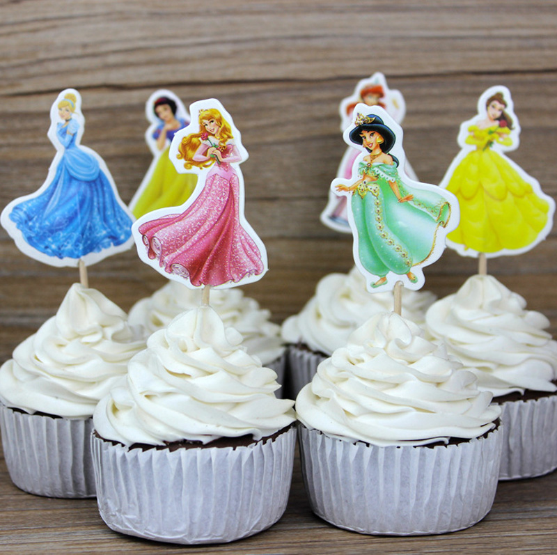 Other Baking Accessories Baking Accs. & Cake Decorating Paquete 12 Arcoiris Hada Diseño Papel De Arroz Toppers Cupcake Decoración
